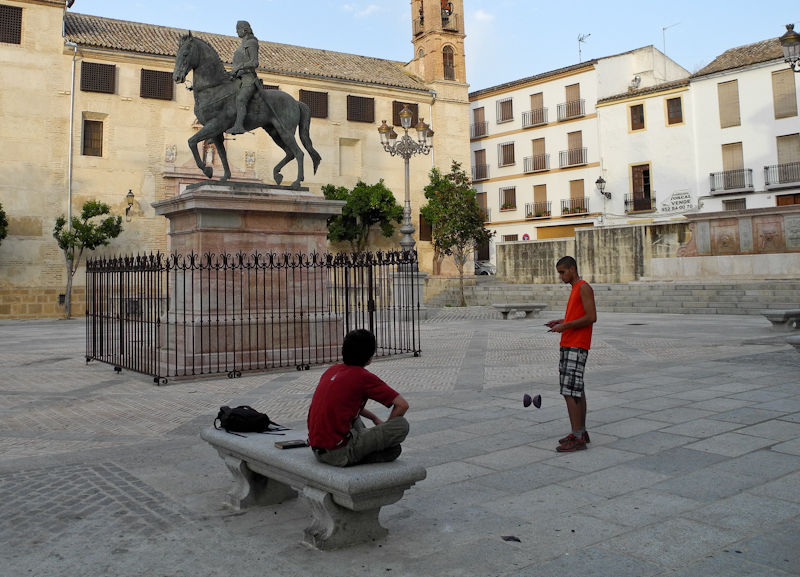 Diabolo Street Scene Antequera Andalusia Spain