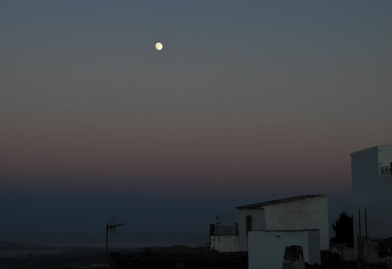 Moon Comares Axarquia Andalusia Spain