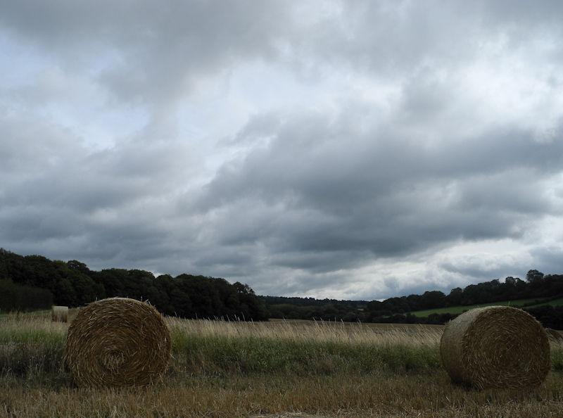 Straw Bale Ludlow Shropshire UK