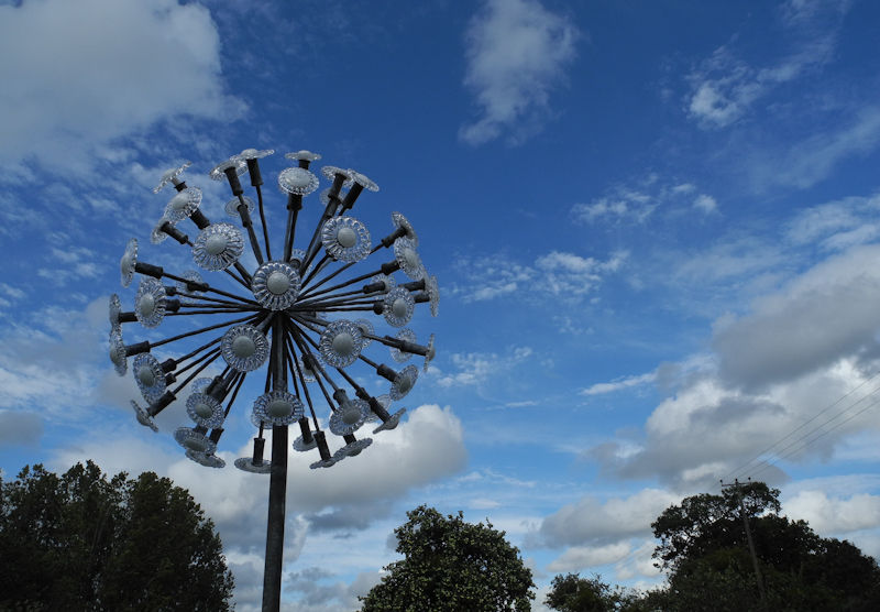 Dandelion Sculpture Herefordshire UK