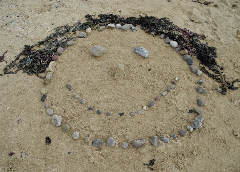 Beach Art Caswell Bay Gower Wales