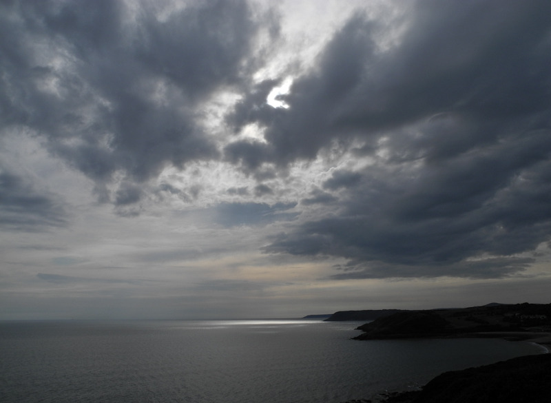 Clouds Gower Wales