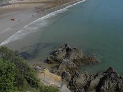 Rocks Caswell Beach Gower Wales