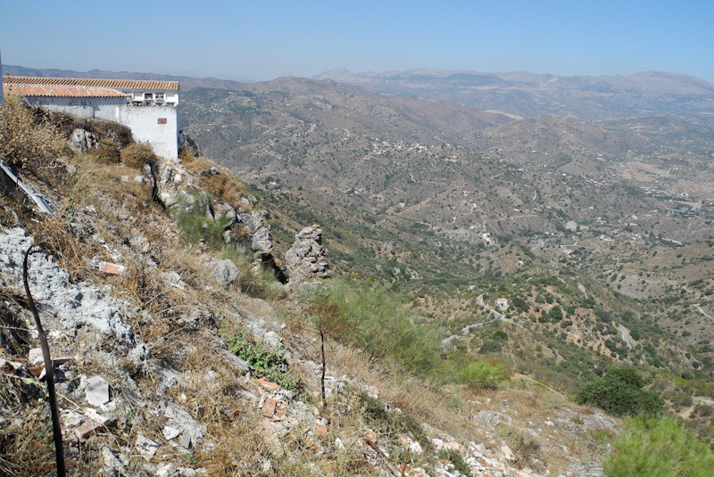 Cemetery Comares Axarquia Andalusia Spain