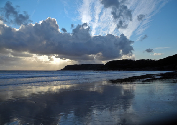 Sunset Caswell Gower Wales