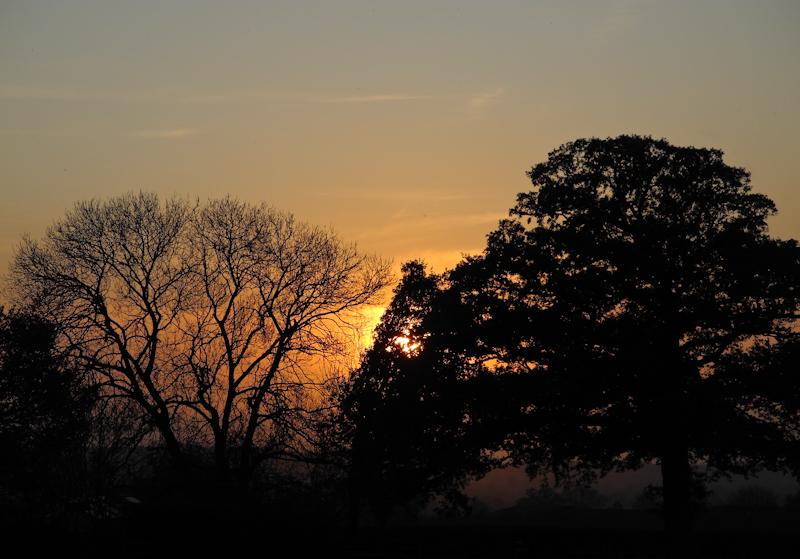 Glastonbury Sunset Somerset UK