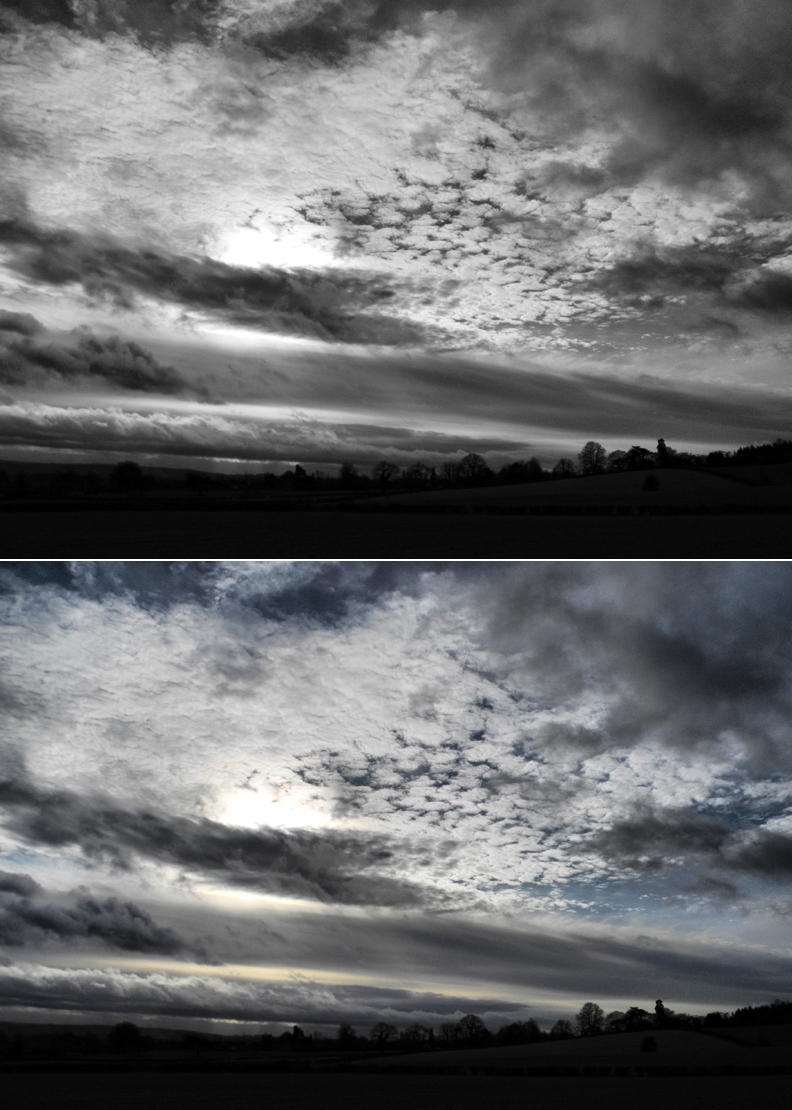 Ludlow Clouds Shropshire UK