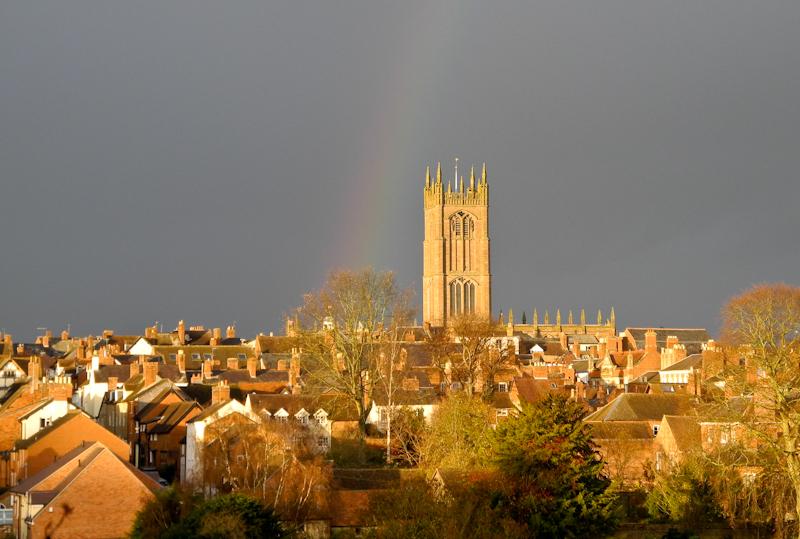 Rainbow Ludlow Shropshire UK