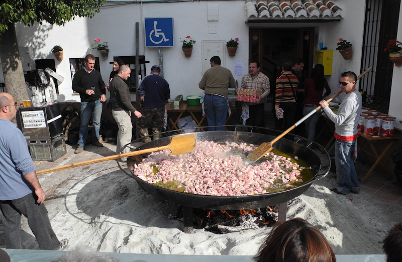 Paella Comares Axarquia Andalucia Spain