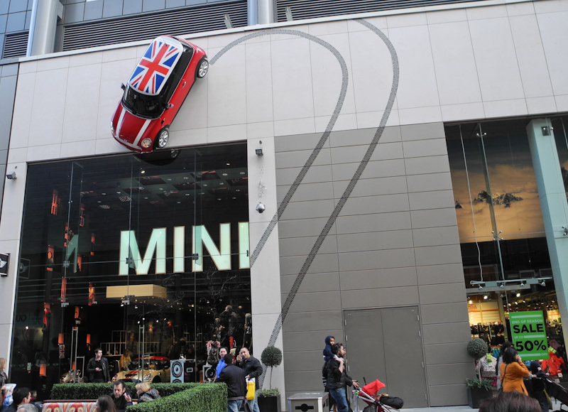 Mini Westfield Centre London UK