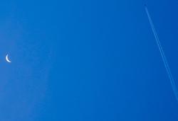 Moon Plane Comares Axarquia Andalucia Spain