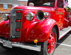 Ludlow  Fire engine Shropshire UK