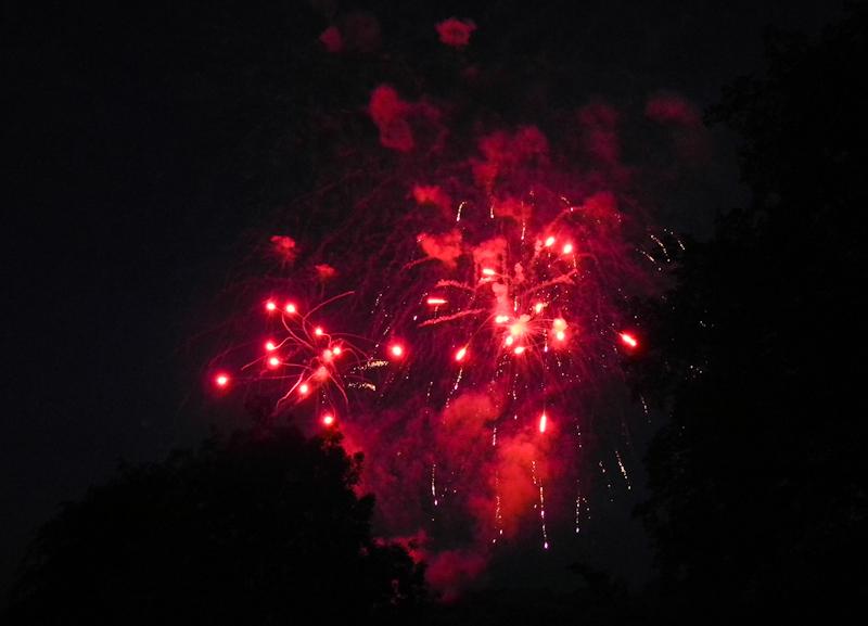 Ludlow  Fireworks Shropshire UK
