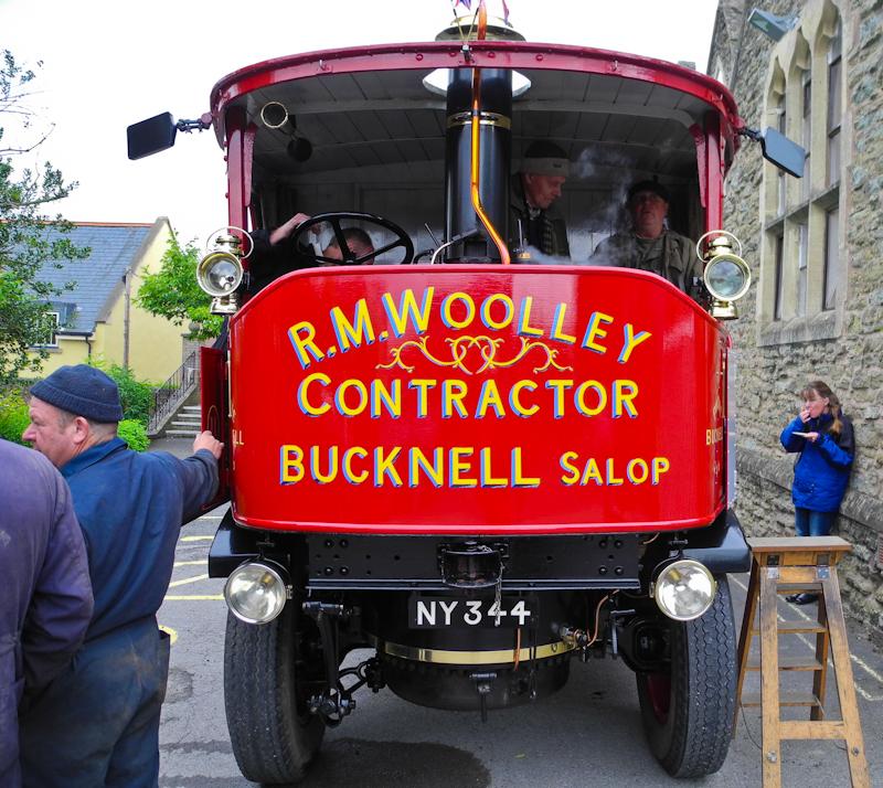 Ludlow Steam Lorry Shropshire UK