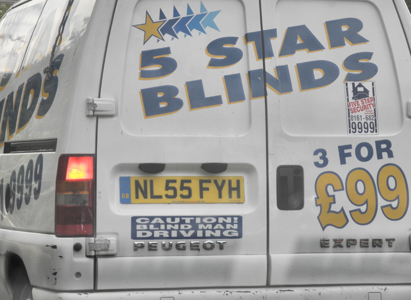 Blind Man Manchester UK