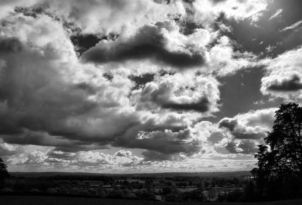 Clouds Caynham Camp Shropshire UK