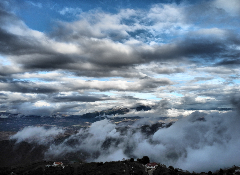 Clouds Comares Axarquia Andalucia Spain