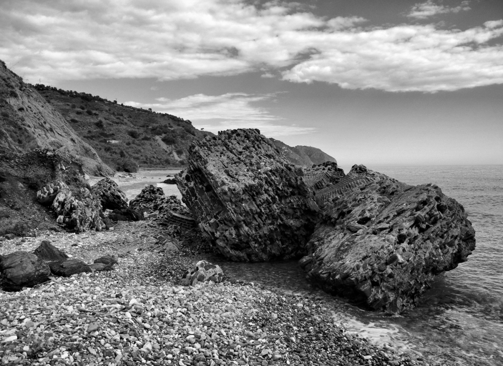 Beach Alberquillas Axarquia Andalusia Spain