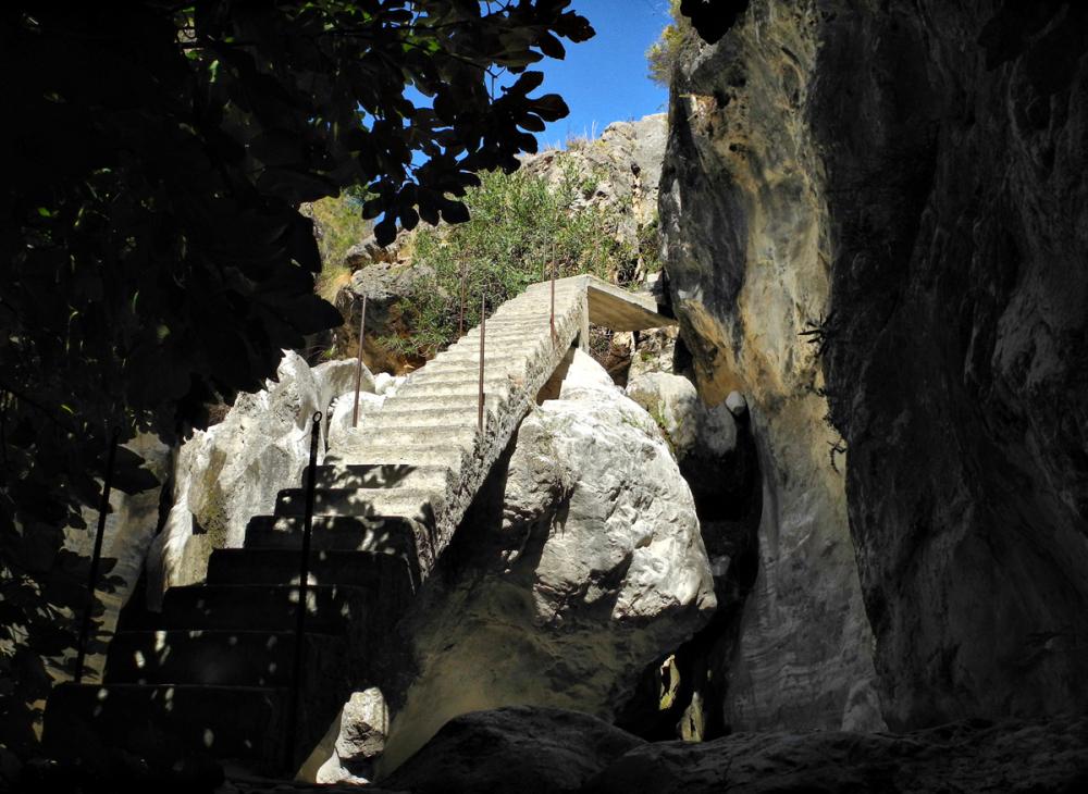 Staircase Higueron Axaarquia Andalusia Spain