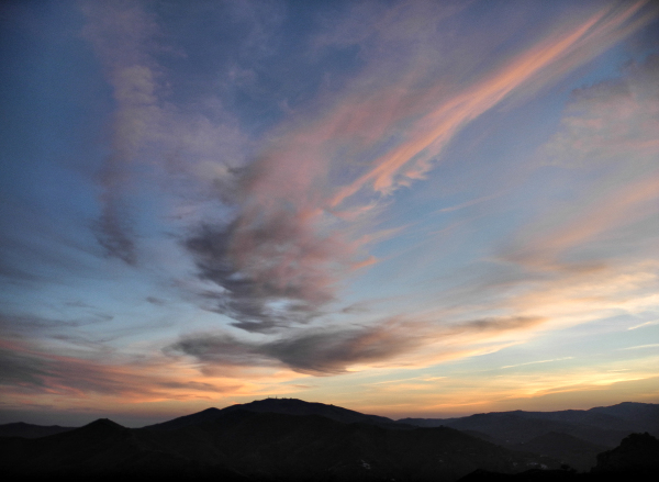 Sunset Comares Axarquia Andalucia Spain