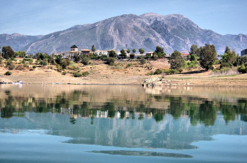 Lake Vinuela Axarquia Andalucia Spain