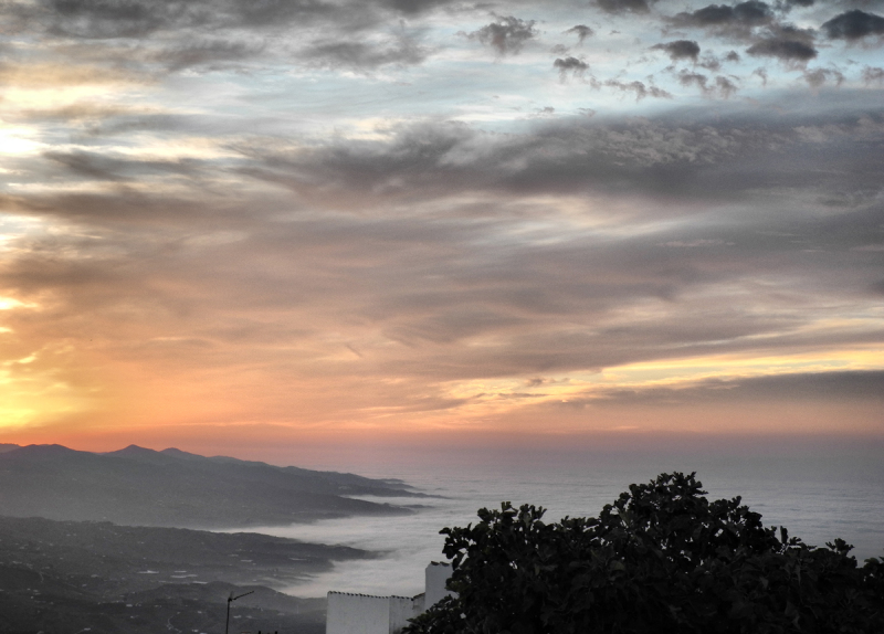 Dawn Comares Axarquia Andalucia Spain