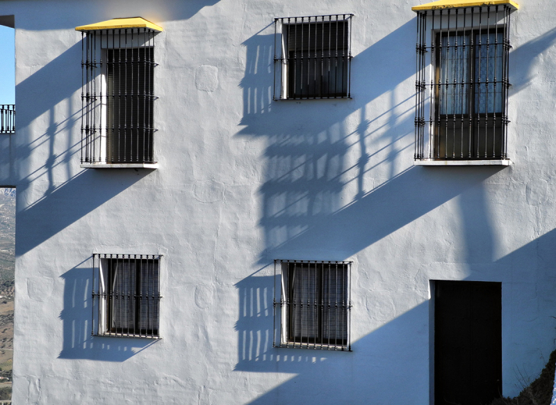 Comares Shadows Axarquia Andalusia Spain