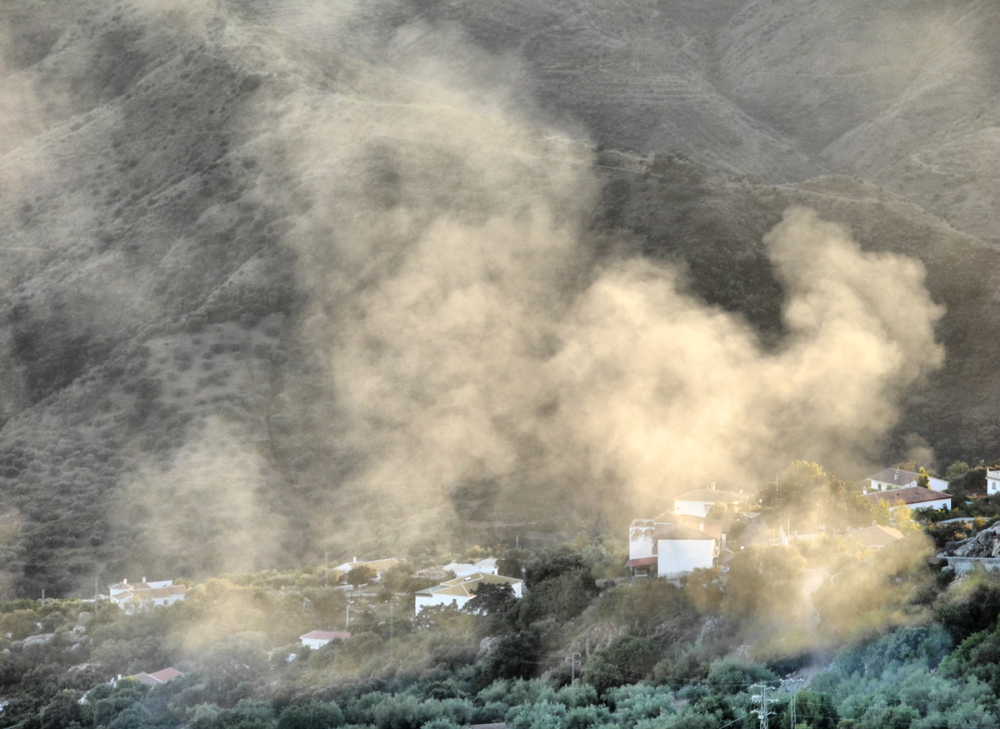 Comares Smoke Axarquia Andalusia Spain