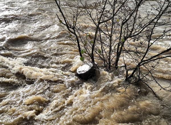 Floods Ludlow Shropshire UK
