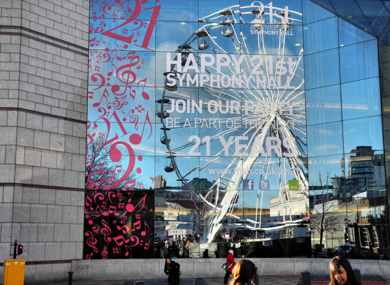 Birmingham Symphony Hall Reflections  UK