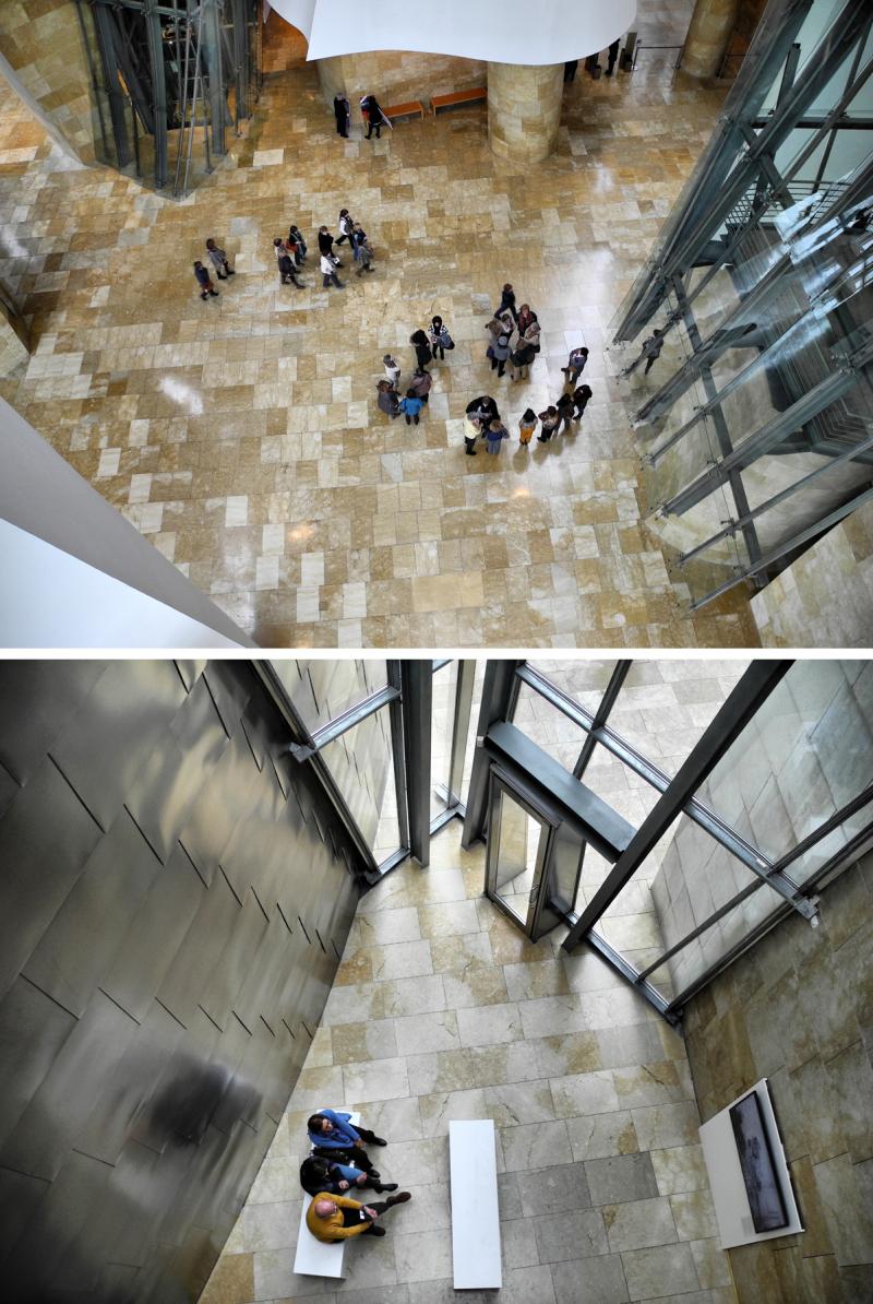Bilbao Museo Inerior Guggenheim Spain