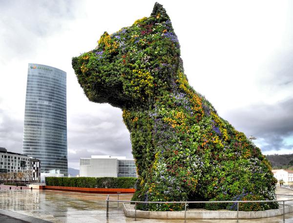 Bilbao Museo Jeff Koons Guggenheim Spain