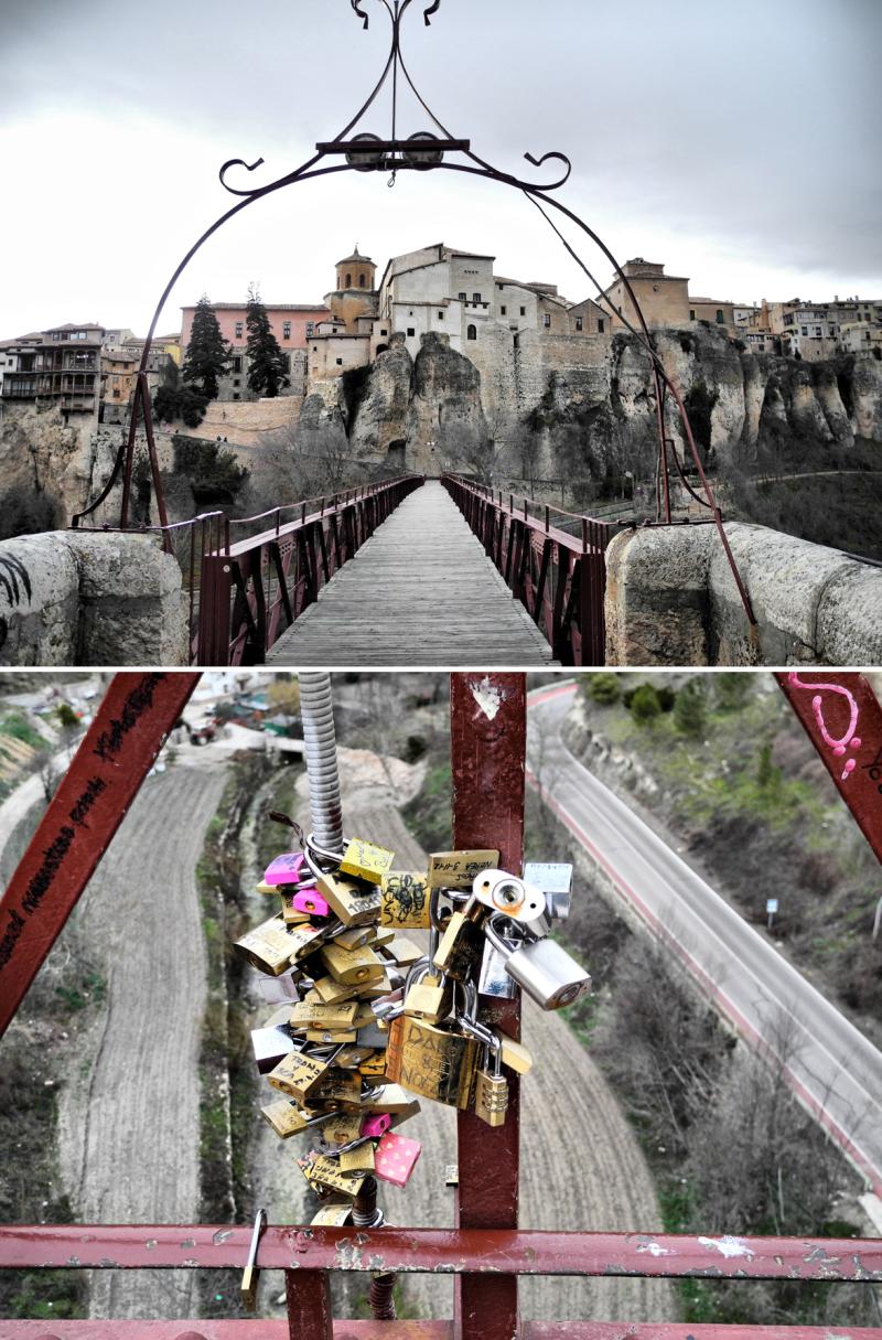 Cuenca Spain Bridge Locks