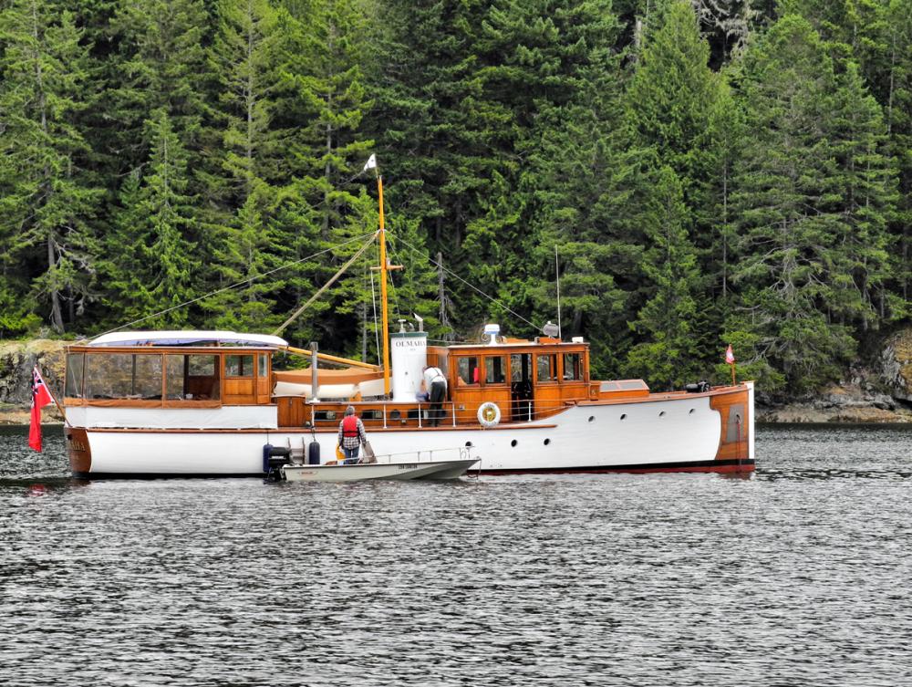Cortez BC Canada Wooden Boat