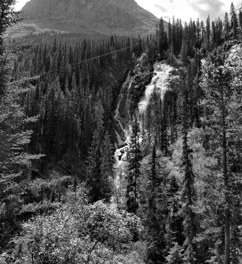 Canmore Alberta Canada Grassi Falls