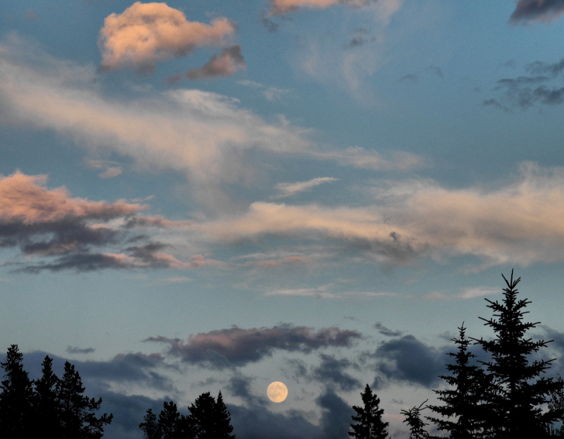 Canmore Alberta Canada Moon