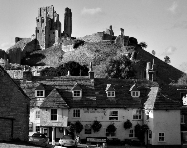 Corfe castle Dorset UK
