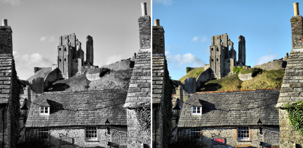 Corfe castle Dorset UK