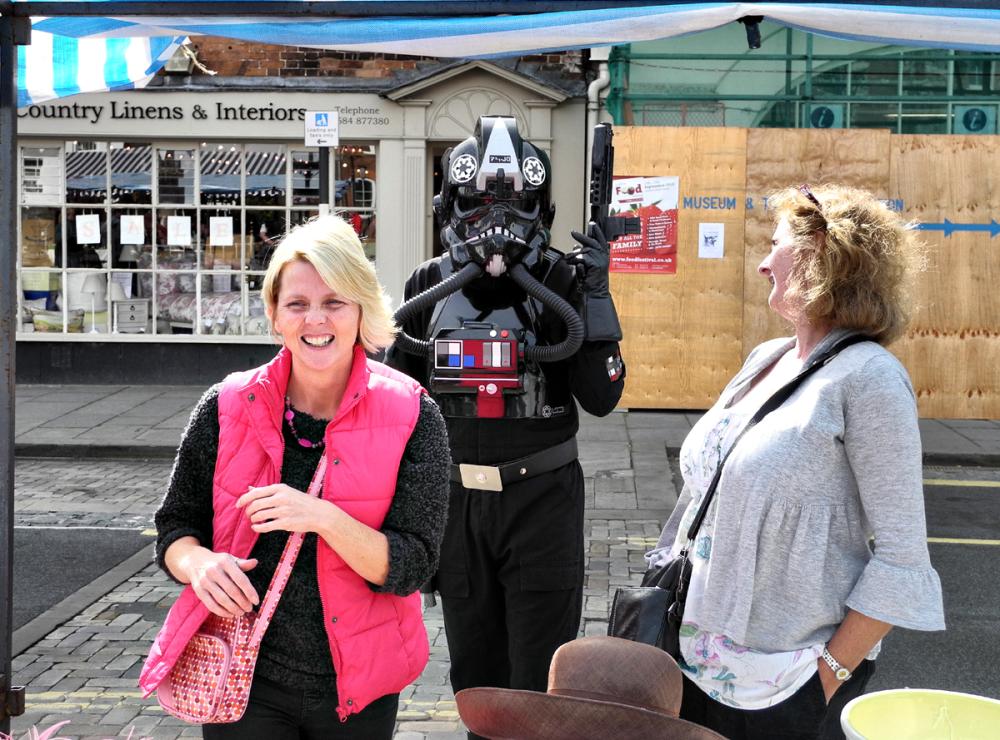 Market Ludlow Shropshire UK