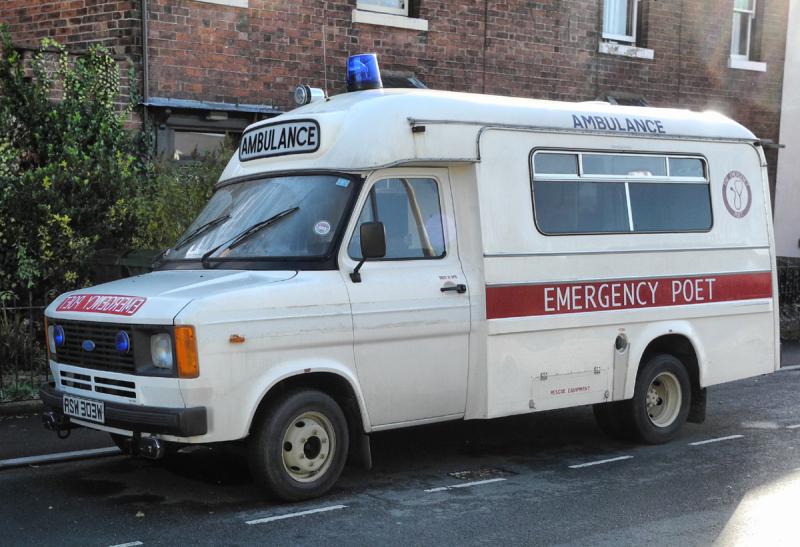 Emergency Poet Ludlow Shropshire UK