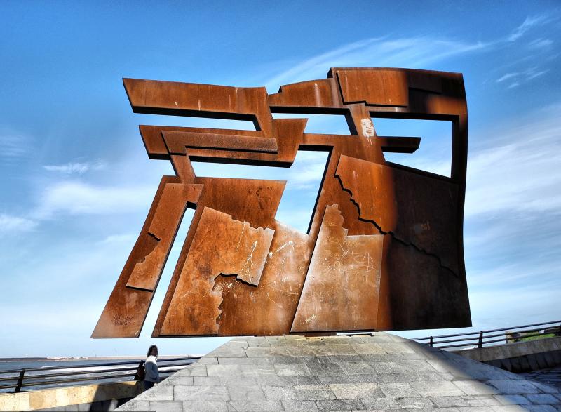 Sculpture Gijon Spain