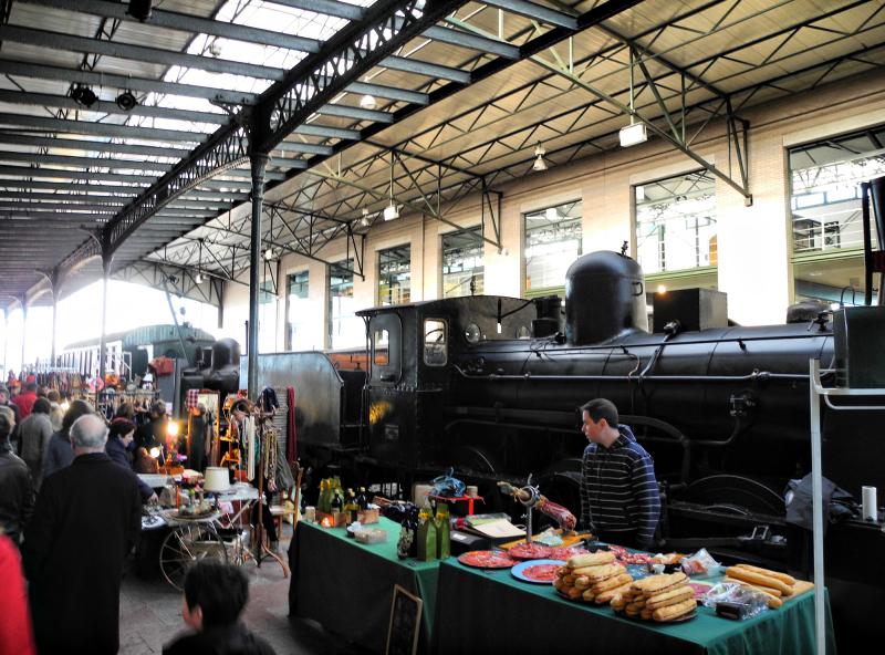 Railway Museum Gijon Spain