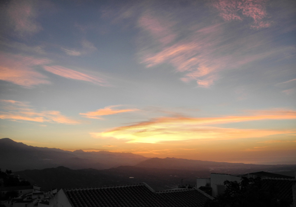 Dawn Comares Axarquia Andalusia Spain