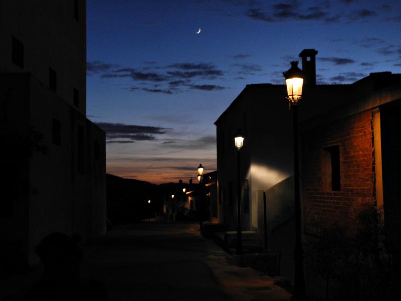 Comares Axarquia Andalusia Spain Moonrise