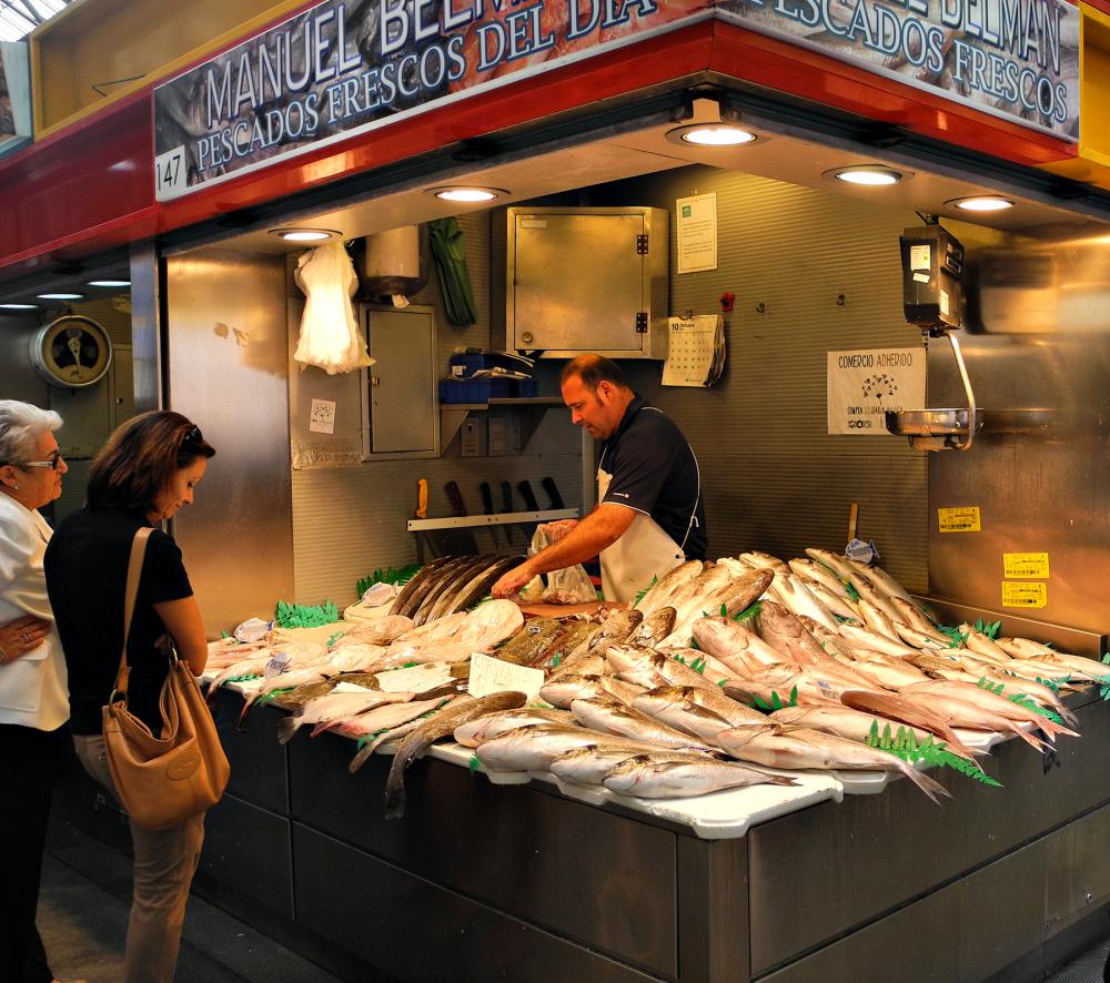 Malaga Market Fish Spain