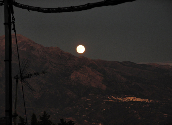 Comares Axarquia Andalusia Spain Moon