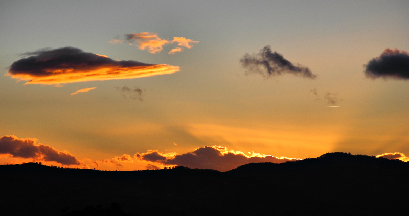 Comares Axarquia Andalusia Spain Sunset