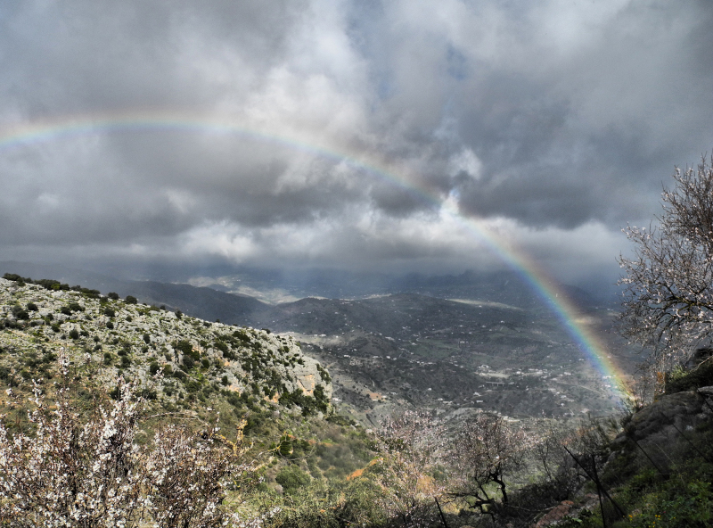 Comares Axarquia Andalusia Spain Rainbow