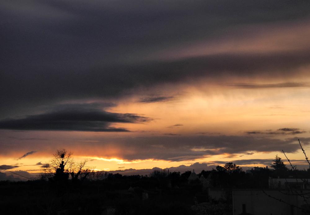 Corregia Puglia Italy Sunset