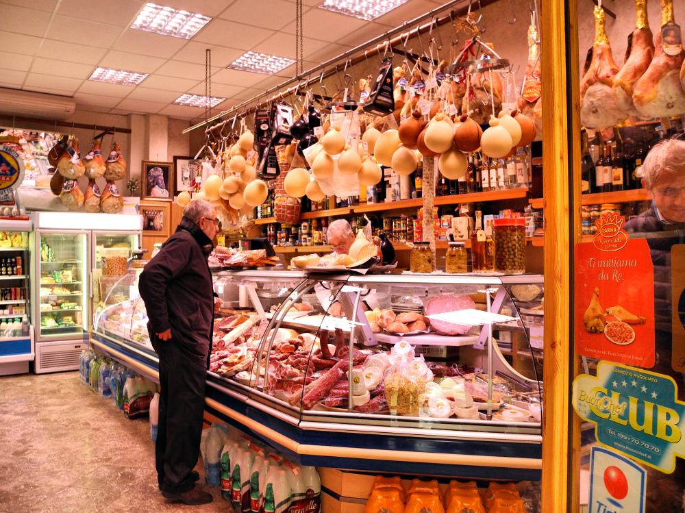 Bari Puglia Italy Cheese shop